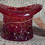 Smith Glass Amberina Hat Toothpick Holder