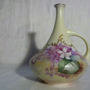 Vintage Handpainted Vase Unmarked in Excellent Condition