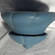 Weller Pottery Blue Hanging Planter