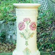 "SALE Weller Pottery 16.5"" Roma Pedestal in Excellent Condition"