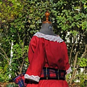 Wonderful Antique Red Dress For Your Favorite Big Bebe