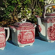 "Mason's Ironstone China Tea Set.....Pre 1940 ""Vista"""