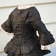 Original, Circa 1870 French Jacket....Entirely Hand Sewn