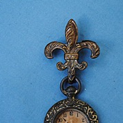 French Fashion Watch With Matching Fleur De Lis Pin