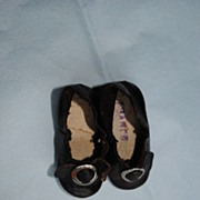 "French Bebe Shoes Size ""0""....Circa 1870-1890"