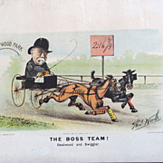 Currier and Ives 1882 &quot;The Boss Team&quot; by Thomas Worth