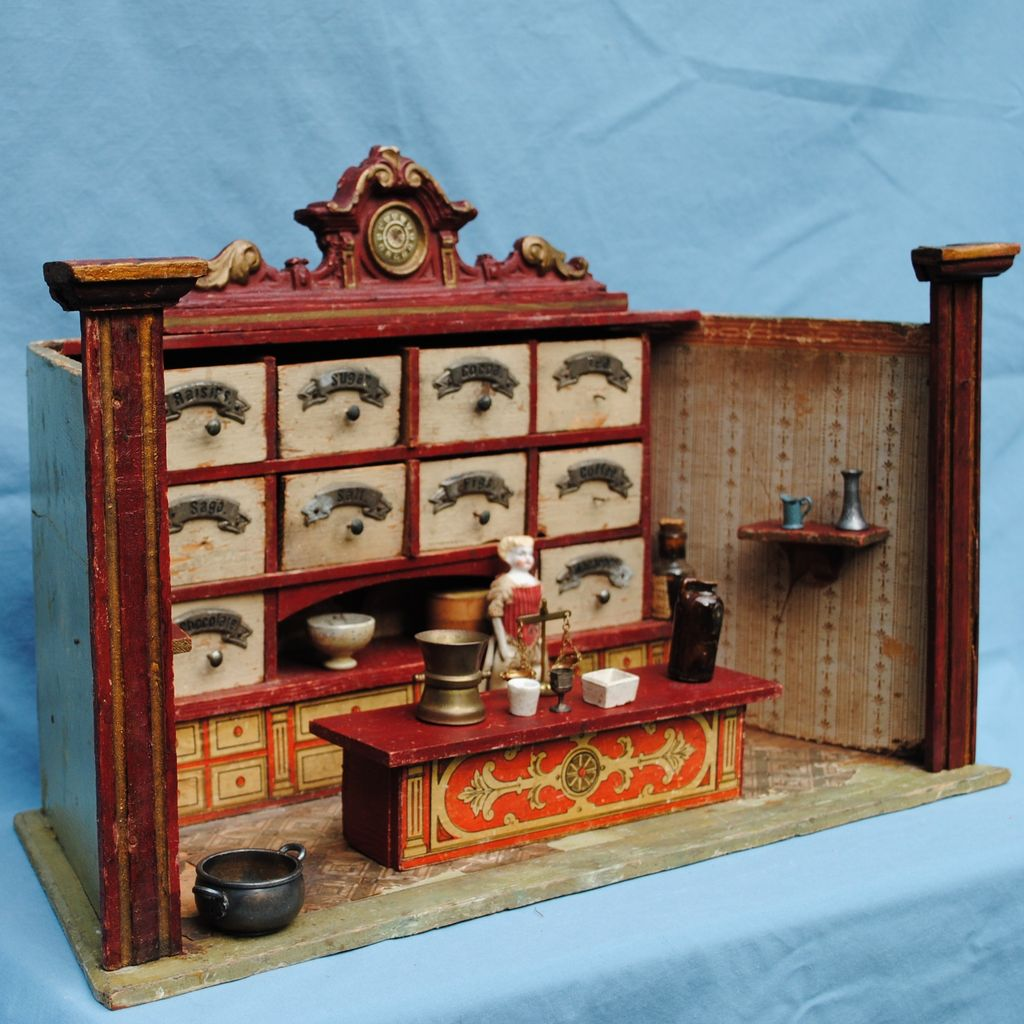 Circa 1890-1900 German Manufactured Miniature Grocery Store