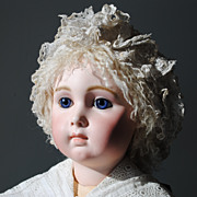Hand Made Lamb Skin Wig For A Large French Doll