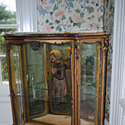 Circa 1890-1900 French Mirror Backed Display Cabinet...Onyx Top!