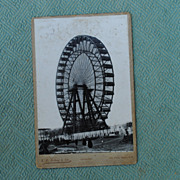 British Cabinet Card Of The Great Wheel.Empire of India Exhibition
