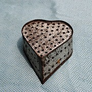 French Heart-Shaped Tin Cheese Mold...Circa 1890-1910