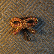 Circa 1870 French Fashion Bow Pin