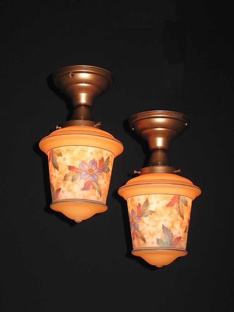 Czech Bellova Glass Fixture