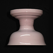Vintage Lavender All Porcelain Flush Mount Ceiling Fixture