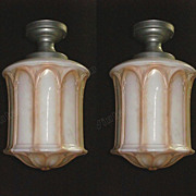 Large Antique Tudor / Gothic Inspired Ceiling Fixture