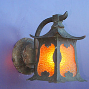 SOLD Asian Inspired Arts & Crafts Porch Light