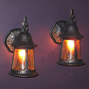 Pair Vintage Porch Lights