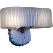 Vintage White Porcelain Bath Sconce Lighting Fixture