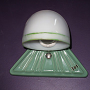 Vintage Green Porcelain Wall Sconce