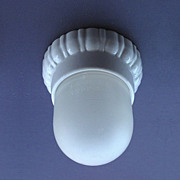 Small Vintage Screw-In Shade on Porcelain Fitter