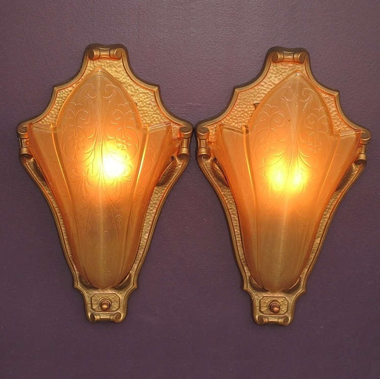 Antique Theater Wall Sconces : Perfect Home Theater Art Deco Vintage Wall Sconces from vintagelights-online on Ruby Lane