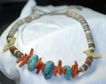 Turquoise Coral Heishi Necklace Bold and Beautiful