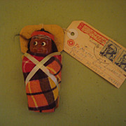1960's Skookum Mailer Papoose Doll with Original Tag