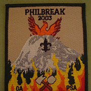 Order of the Arrow Philbreak Inaugural Year Patch BSA Boy Scout Philmont