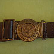 Vintage 1969 Boy Scout BSA   VII National Jamboree Idaho Belt and Buckle