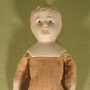 Vintage Nippon Bisque Shoulder Head Boy Doll Scarce ABC Cloth Body