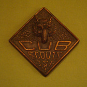 Vintage Bronze Copper Cub Scout Paperweight
