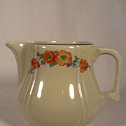 Vintage Hall Radiance 2 Qt. Water Pitcher Orange Poppy