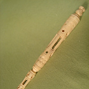 Rare 19th Century Carved Bone Needle Case