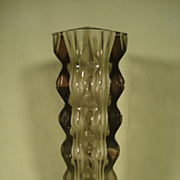 Incredible Mid Century Marked Art Glass Vase Exbor Czechoslovakia