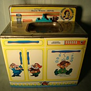 Vintage Wolverine Snow White Doc Happy & Dopey sink + dishwasher