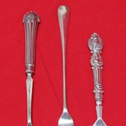 Three Vintage Plated Pickle Forks