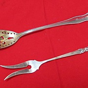 Sterling Olive Fork & Sifter Spoon