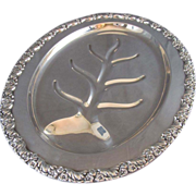 Silver Plated Meat Platter with Well