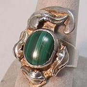 Malachite Native American Style Ring