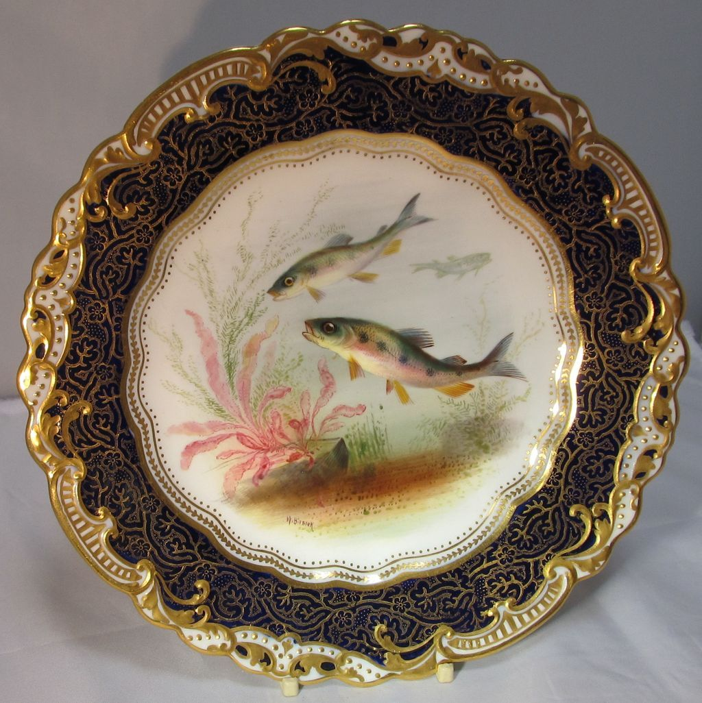 George Jones Hand Painted Porcelain Plate