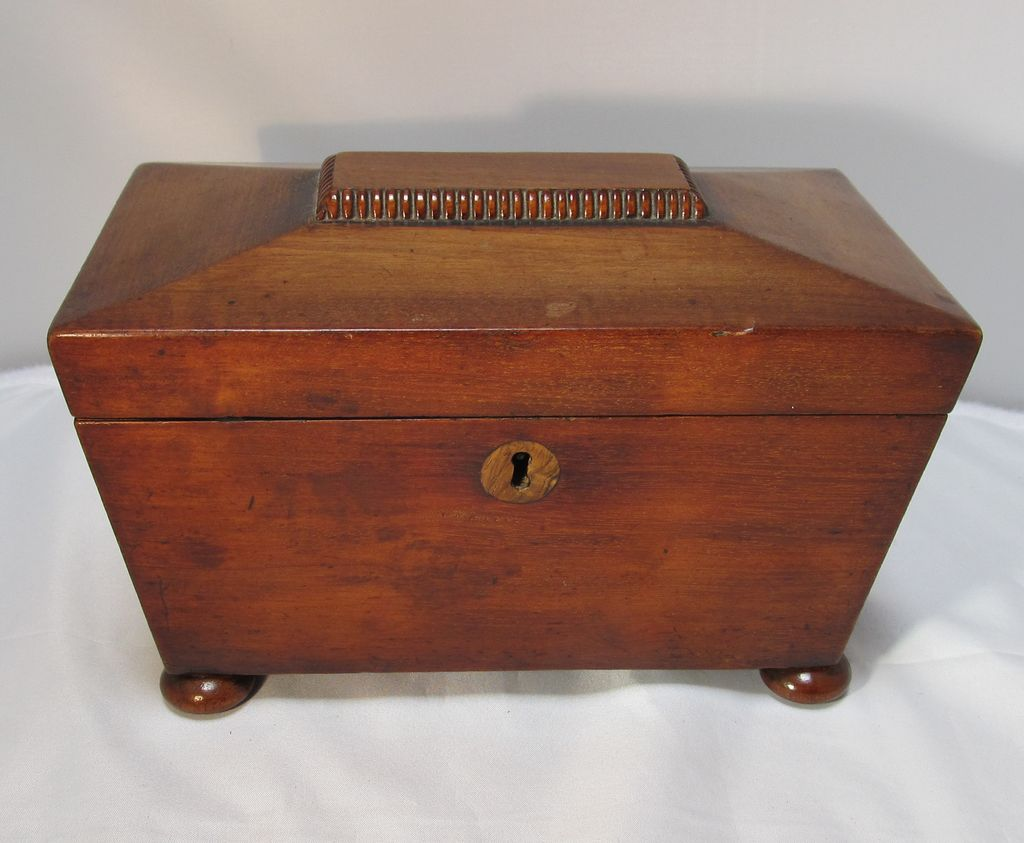 antique victorian english mahogany tea caddy from thesteffencollection on ruby lane. Black Bedroom Furniture Sets. Home Design Ideas