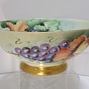 SALE Bavarian Hand Decorated Punch Bowl