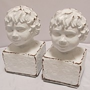 Cherub Terra Cotta Bookends