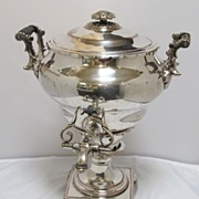 Antique English Sheffield Silver Plated Hot Water Tea Coffee Urn