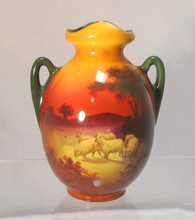 Vintage Miniature Glass Vasesntage Amberina Blenko Crackle