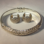Sterling Bangle & Earrings