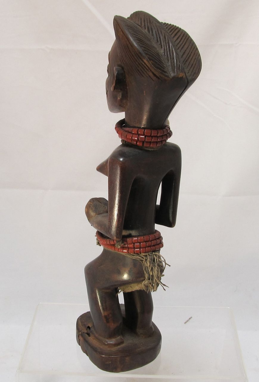 African Chokwe Maternity Figure Angola From