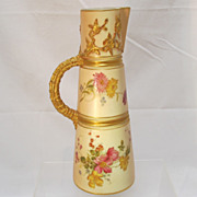 SALE Royal Worcester Ewer  Blush Ivory  Dated 1895