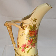 Royal Worcester Blush Ivory Ewer Dated 1896