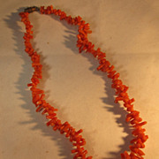 Petite Coral Necklace 15 inches